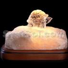 черепашка - соляной светильник кристалл хамелеон №2
