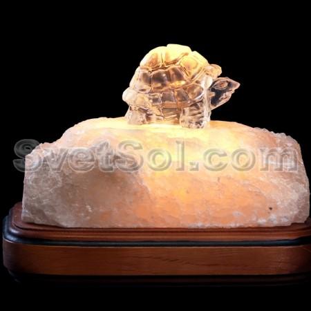 черепашка - соляной светильник кристалл хамелеон