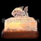 Рыбка - соляной светильник кристалл хамелеон