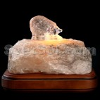 Ёжик - соляной светильник кристалл хамелеон