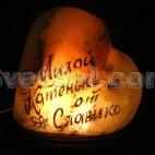 """Соляная лампа """"Сердца"""""""