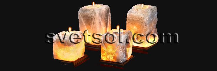 На фото запечатлены для сравнения соляные светильники 12